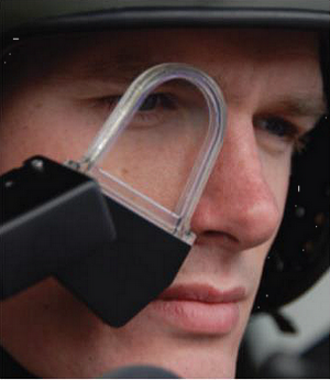 The head-worn part of the BattleView 360 system can be synced to vehicle cameras to provide a 'see-through' capability in both visual and infrared (photo: BAE Systems)