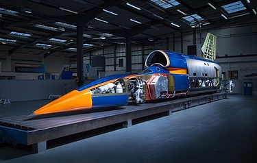A view of the Bloodhound SSC exhibit (photo: Stefan Marjoram/The Bloodhound Project)
