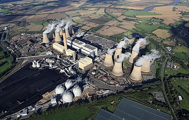 Aerial view of the Drax site (courtesy of  Drax Group plc)
