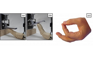 The technology uses both a heating and then a cooling process to operate the robotic finger (images courtesy of Florida Atlantic University)