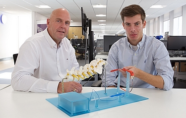 Professor Philip Breedon (left) with postgraduate student Mark Golab