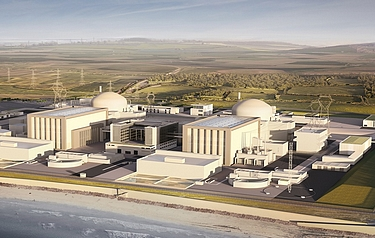 Artist's impression of Hinkley Point C nuclear power station (image courtesy of EdF Energy)