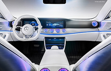 The Foundry has worked on Mercedes' next-generation customer interface concept - 'Project Dash' - which, for the first time connects a true UI/UX designer's tool directly to the in-car experience