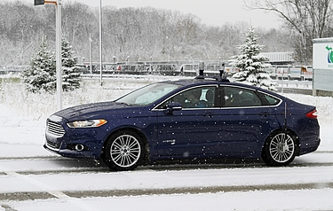 Ford Motor Company is conducting the industry's first autonomous vehicle tests in snow-covered environments (photo: Business Wire)