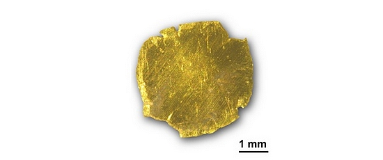 Gold removed and recovered from polluted water (photo: ETH Zurich/R Mezzenga/S Bolisetty)