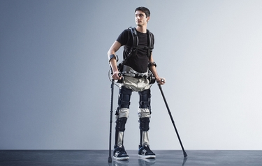 Steven Sanchez, who was paralyzed from the waist down after a BMX accident, wearing SuitX's Phoenix (photo courtesy of SuitX)