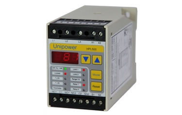 The Unipower HPL500 digital motor load monitor from Charter Controls protects machinery by monitoring the electrical power of the motor driving it