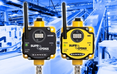 The RFID gateways and nodes distributed around the Zip World sites are based on Banner's industrial-grade SureCross series of wireless devices