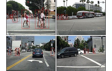 Pedestrian detection system was developed in the Statistical Visual Computing Lab at UC San Diego (images: Statistical Visual Computing Lab, UC San Diego)