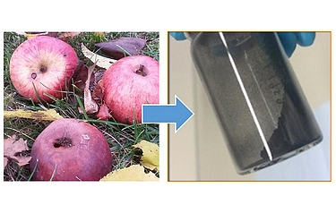 The new carbon-based material for sodium-ion batteries can be extracted from apples (photo: KIT/HIU)