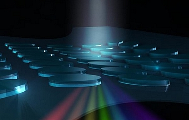 Nanoscale glass structures can be made to filter or manipulate light (image: RMIT/The University of Adelaide)