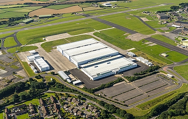 The site of the proposed new Aston Martin factory at St Athan in Glamorgan