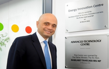 Rt Hon Sajid Javid MP opens the Energy Innovation Centre (Credit: WMG)