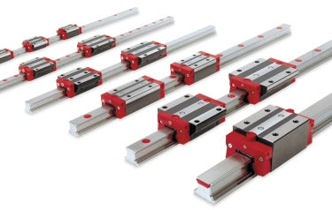 "The range covers ""MONORAIL"" sizes 15, 20, 25 and 30 precision linear rails with various carriage types and accessories"
