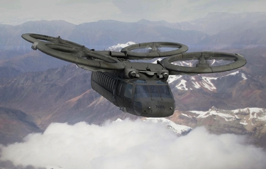 Artist's conception of a future vertical lift aircraft concept. (U.S. Army illustration)