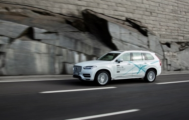 A Volvo XC90 Drive Me test vehicle. (Credit: Volvo)