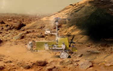 Bridget the rover (Credit: ESA)
