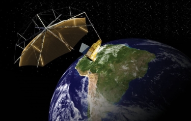 The Biomass satellite (Credit: Airbus Space & Defence)