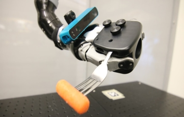 Robot's in-hand eye maps surroundings and determines hand's location (Credit: Carnegie Mellon University)