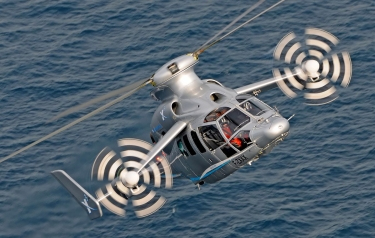 The Eurocopter X3, the original model under development, when it set the unofficial helicopter speed record. (Credit: Airbus)