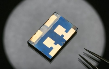 This is a Perovskite solar cell prototype. (Credit: Copyright Alain Herzog / EPFL)