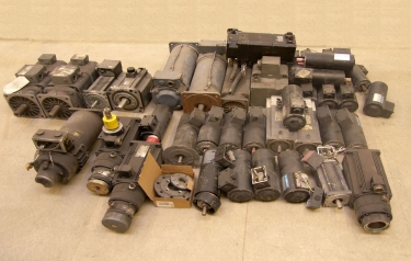 A selection of equipment currently being repaired at one of CP Automation's workshops in the north east