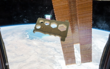 The Mulitpurpose Precision Maintenance Tool, created by University of Alabama in Huntsville student Robert Hillan as part of the Future Engineers Space Tool Challenge, was printed on the International Space Station. (Credit: NASA)