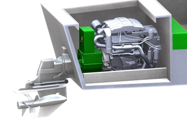 Computer-generated image of the hybrid engine (Credit: University of Southampton)