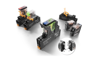 Compact 1 and 2 CO contact relays with robust, industrialised plug-in pins