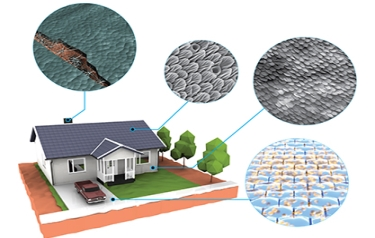 How could living materials be used in a home? Consider the benefits to be gained from a chimney that heals after damage or a roof that breathes to control airflow. (Credit: DARPA)