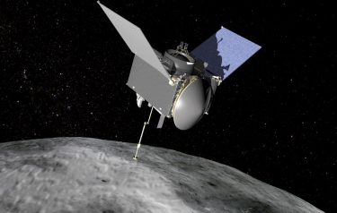 OSIRIS-REx will travel to near-Earth asteroid Bennu on a sample return mission. (Credits: NASA)