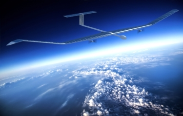 An artist's impression of Zephyr at altitude (Credit: Airbus)