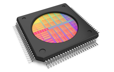 A chip designed to flag malicious circuitry (Credit: NYU Tandon)
