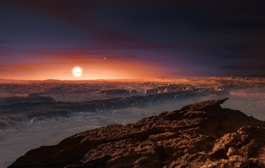 Artist's impression of the planet orbiting Proxima Centauri (Credit: European Southern Observatory (ESO))