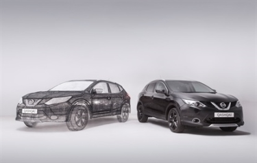 Nissan creates world's largest 3D pen sculpture: a stunning full-sized Qashqai crossover (Credit: Nissan Europe)