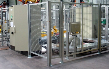 A safety room enclosed in a typical modular profile system