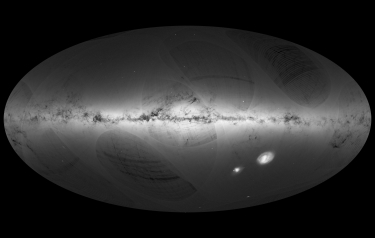 Gaia's first sky map (Credit: ESA)