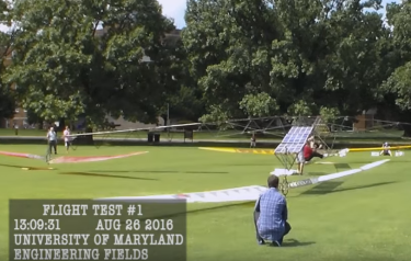 Testing the helicopter (Credit: University of Maryland/YouTube)