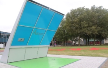 First solar-powered wireless charging station for electric bikes (Credit: TU Delft)