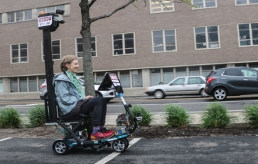 An autonomous mobility scooter and related software were designed by researchers (Credit: MIT)