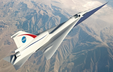 How NASA's 'quiet' supersonic plane might look (Credit: NASA)