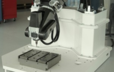 The reconfigurable carbon composite robotic machine tool built by the AMRC (Credit: AMRC)