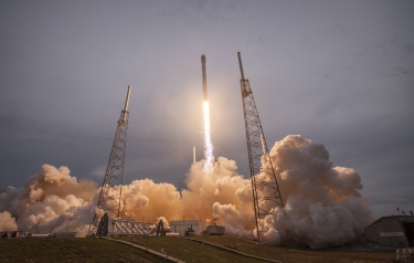 Thales Falcon 9 launch (Credit: SpaceX)