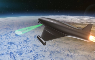 The Laser Developed Atmospheric Lens (LDAL) concept (Credit: BAE Systems)