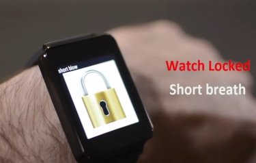 Unlocking your smartwatch using breaths (Credit: Georgia Tech/YouTube)