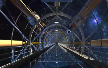Space elevator concept (Credit: Tom Phillips/YouTube)