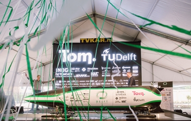 TU Delft students win Hyperloop Pod Competition (Credit: TU Delft)