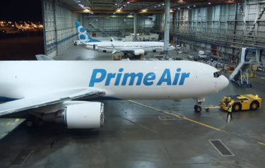 Amazon's plane network (Credit: Amazon/YouTube)