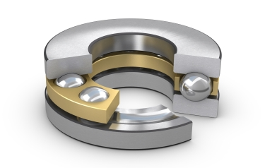 SKF single direction thrust ball bearings consist of a shaft washer, a housing washer and a ball and cage assembly