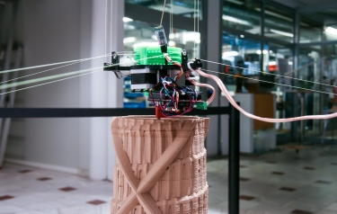 The world's highest 3D-printed Tower of Babel is being created at Sliperiet, Umeå University (Credit: Linnéa Therese Dimitriou)